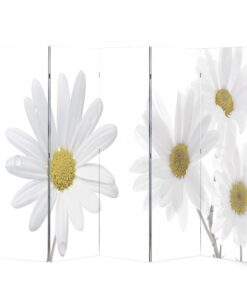 vidaXL foldbar rumdeler 200 x 170 blomstermotiv