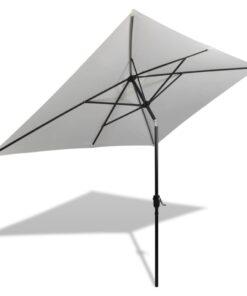40772 vidaXL parasol 200 x 300 cm sandhvid rektangulær