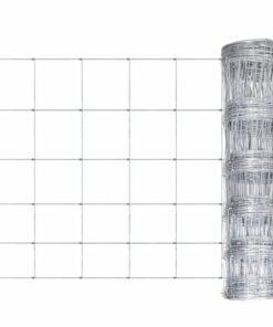 vidaXL havehegn galvaniseret stål 50 m 80 cm