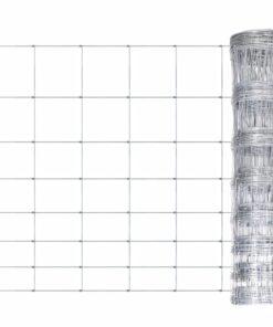 vidaXL havehegn galvaniseret stål 50 m 100 cm