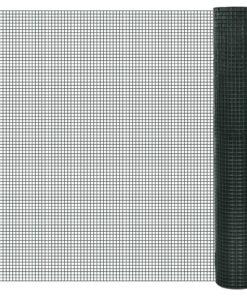 vidaXL hønsenet galvaniseret stål med PVC-belægning 25 x 1 m grøn