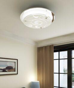 Loftslampe glas rund 1 x E27 mønster