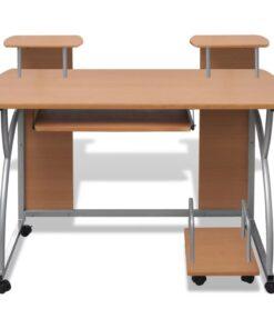 Skrivebord 120x60cm i brun