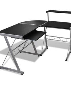 Skrivebord 139x115cm i sort