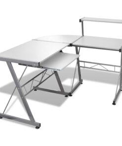 Skrivebord 139x115cm i hvid