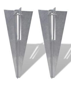 vidaXL stolpespyd til hegn 2 stk. stål
