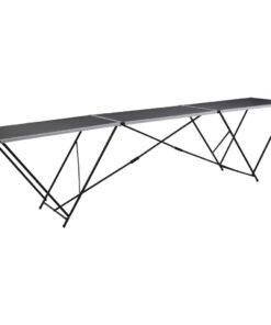 vidaXL klapbord til tapetsering MDF og aluminium 300x60x78 cm