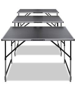 vidaXL tapetseringsbord foldbart med justerbar bordhøjde 3 stk.