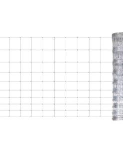 vidaXL havehegn galvaniseret stål 50 m 120 cm