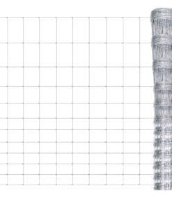 vidaXL havehegn galvaniseret stål 50 m 150 cm