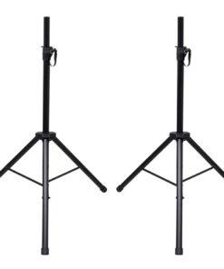 2 justerbare mikrofonstativer