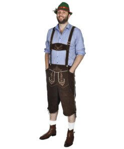Lederhosen størrelse XXL inkl. hat – Oktoberfest