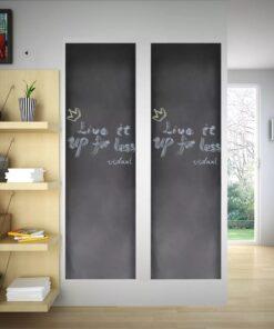 vidaXL kridttavle til væg 0,6 x 3 m 2 ruller med kridt