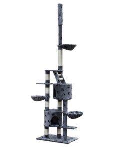 Skrabe Træer XL 230-260 cm grå plys pote