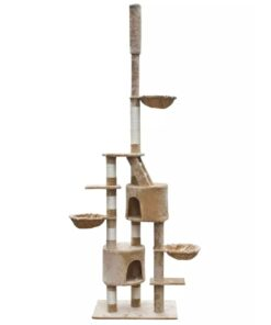Skrabe Træer XL 230-260 cm beige plys