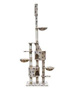 Skrabe Træer XL 230-260 cm beige plys pote