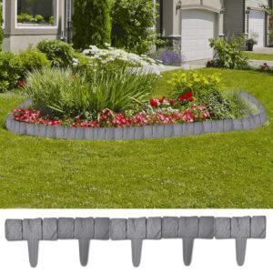 40917 Plastik egn til haven/plænen, stenlook, 10 m