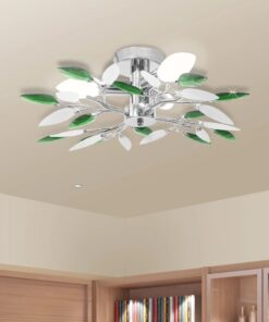 Loft lys med hvid & grøn akrylplade E14