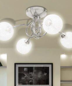 Loftslampe skærme i netmateriale 4 G9-pærer