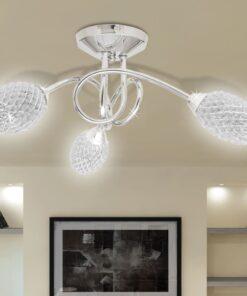 Loft lampe med akryl krystal, 3 lyskilder