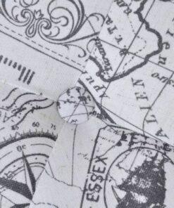 Taburet fodskammel ottoman mønstret rektangulær 80 x 80 x 38,5 cm