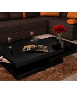 vidaXL sofabord 3 niveauer højglans sort