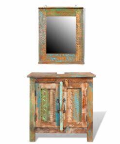 Regenereret sminke kabinet sæt med spejl