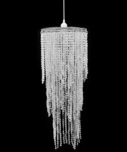 Krystalvedhæng lysekrone 26 x 70 cm