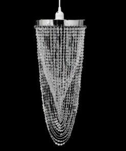 Krystalvedhæng lysekrone 22 x 58 cm