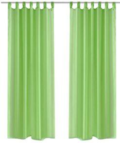 Æble grønt gardin 140 x 245 cm 2 stk