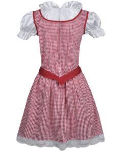 vidaXL Oktoberfest dirndl-kjole med forklæde rød M/L