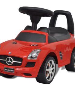 vidaXL Mercedes Benz skubbevogn rød