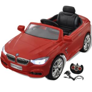 BMW Batteridrevet Kids Bil med fjernbetjening Rød