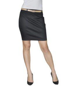 Mini Nederdel med bælte 34 Sort