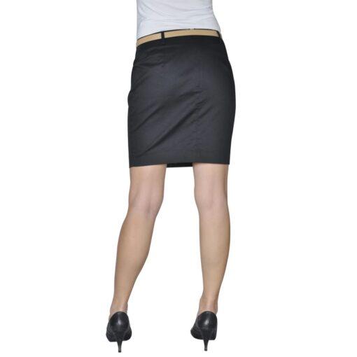 Mini Nederdel med bælte 36 Sort