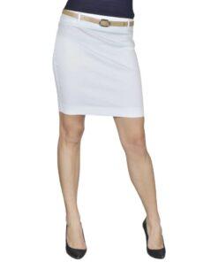 Mini Nederdel med bælte 38 Hvid
