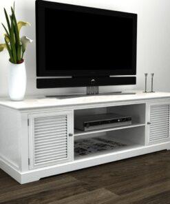 vidaXL TV-reol træ hvid