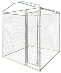vidaXL udendørs hundeløbegård med tag 2 x 2 x 2,4 m