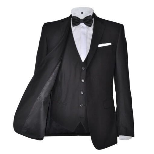 Tre Piece Mænds jakkesæt Størrelsen 46 Sort