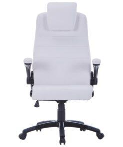 vidaXL drejelig kontorstol hvidt kunstlæder justerbar