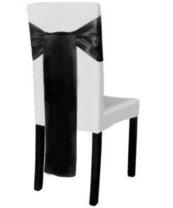 25 stk. dekorative stolesløjfer i Sort satin