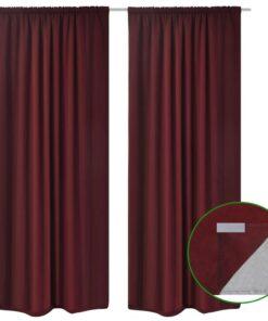 vidaXL mørklægningsgardiner 2 stk. dobbelt lag 140 x 245 cm bordeaux