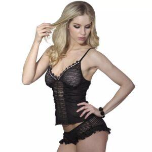 2 stk Sexy Lingerie sæt med Top & Trusser Str L / XL