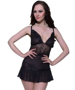 2 stk Sexy Lingerie Set med Dress & G-string Str S / M