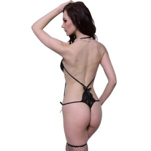 Sexy Backless Teddy Lingerie Str S / M