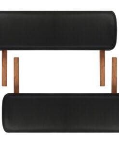 vidaXL massagebord sammenfoldeligt 2 zoner træstel sort