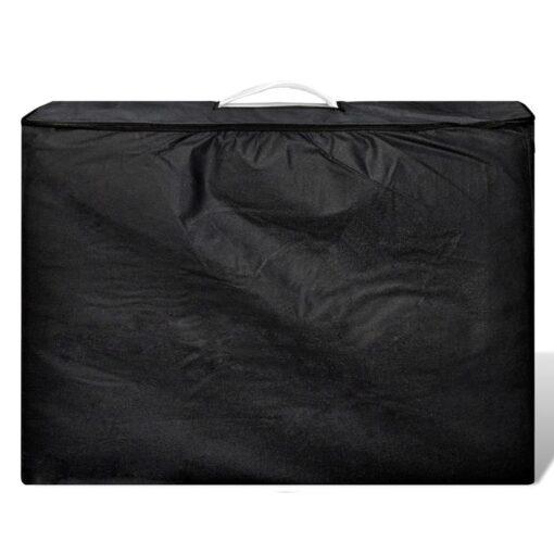 Cremefarvet sammenfoldeligt massagebord med aluminiumsstel,3 zoner