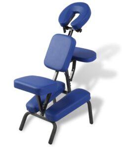 vidaXL massagestol foldbar og transportabel blå