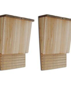 vidaXL flagermuskasse 2 stk. 22 x 12 x 34 cm