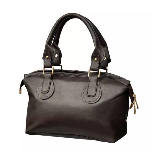 Mørkebrun håndtaske